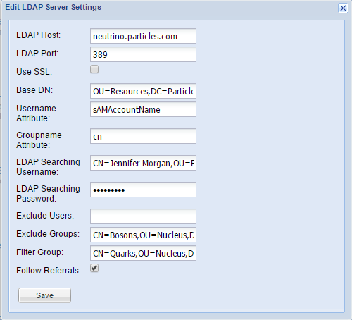 LDAP Settings