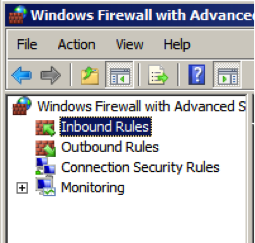 Inbound Rules - Windows Firewall