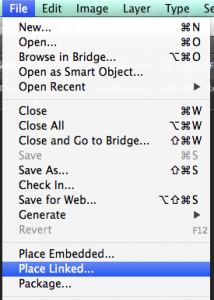 Place Linked... - Adobe Photoshop