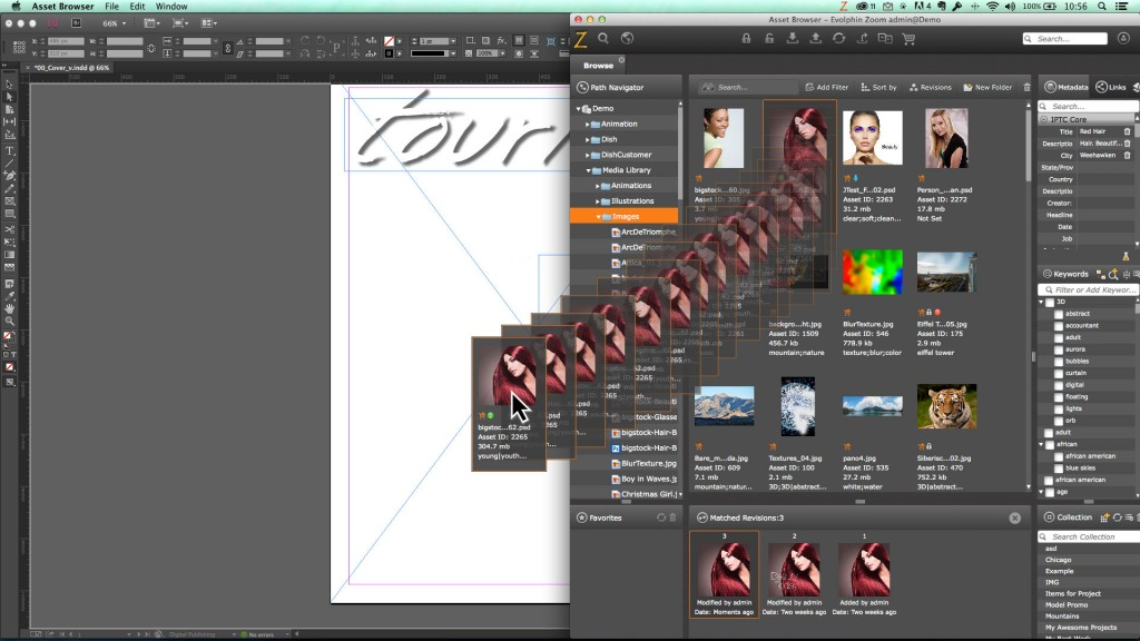 Drag-and-drop to InDesign