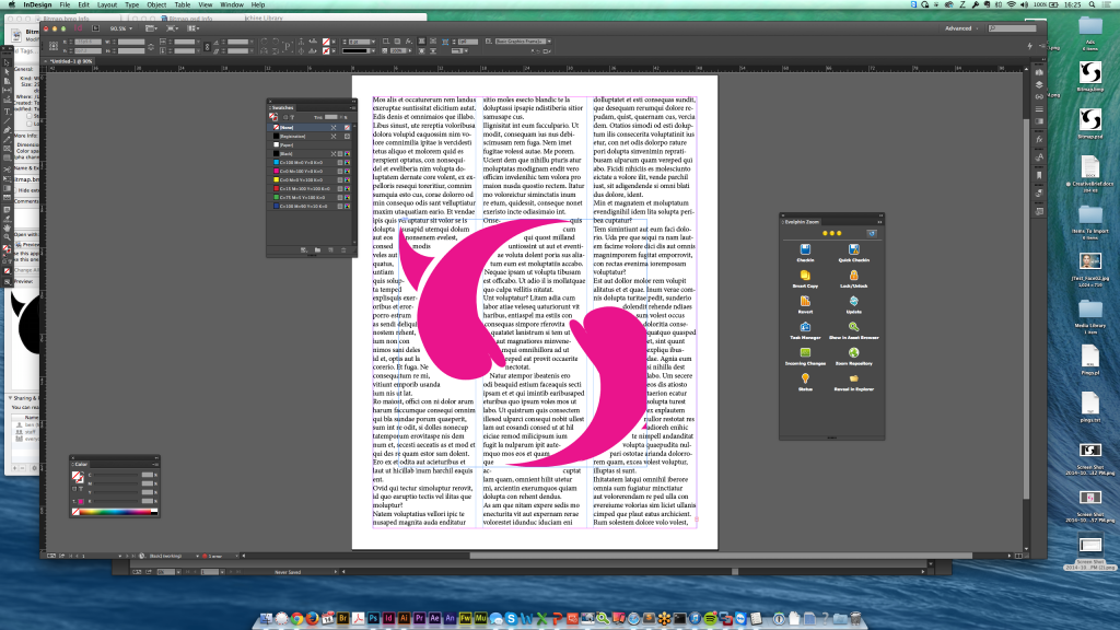 1-bit BMP and Adobe Photoshop files with InDesign allows you to apply spot colors easily.
