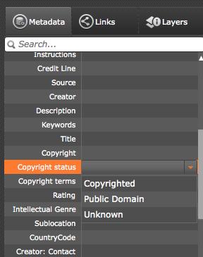 IPTC:Copyright status
