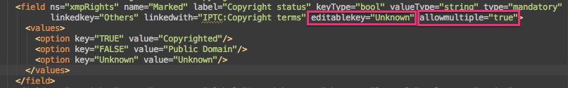 Metadataspec.xml Editing