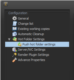 Hot Folder Push Settings enabled on a non-headless machine