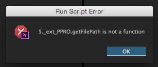 Adobe Script Error