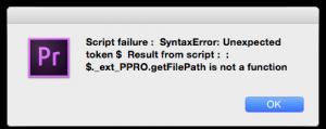 Adobe Script Error 2