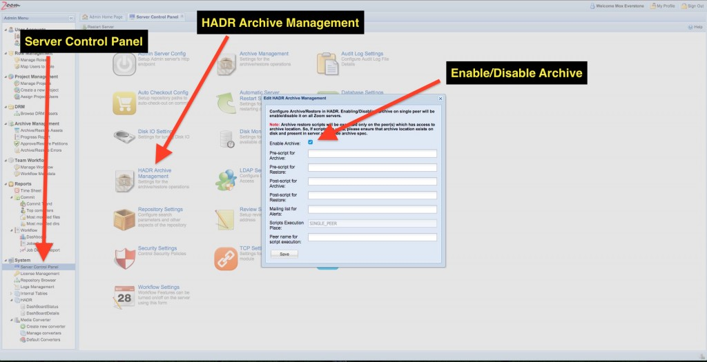 Enable HADR Archive 1