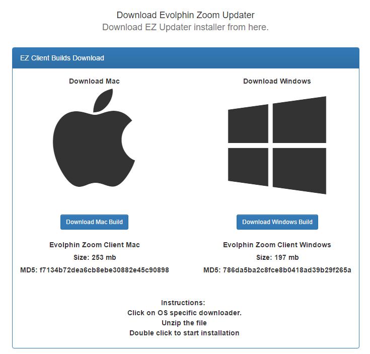 EZ Client Setup | Evolphin Documentation
