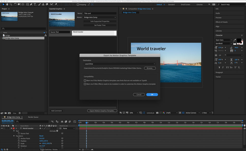 Using Dynamic Links and Essential Graphics in Adobe